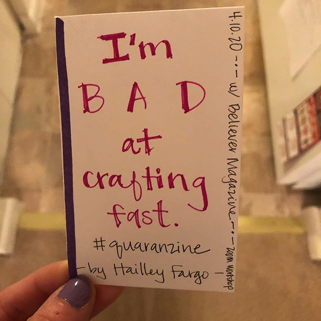 "A picture of a zine entitled ""I'm bad at crafting fast"""