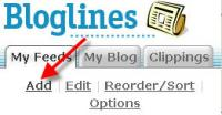 adding a subscription on bloglines
